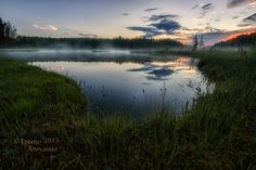 Photograph Foggy sunset by Tuomo Arovainio on Rain And Thunder, River, Mountains, Sunset, Landscape, Nature, Outdoor, Image, Photograph