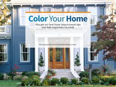 Looking for a color change for your home? This tool from Better Homes & Gardens can help you find the right color!