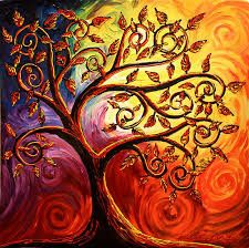 The Tree of Life by Abstract D'Oyley. These leaves would be great for a family tree. Tree Of Life Art, Tree Art, Tree Of Life Images, Tree Of Life Painting, Make A Family Tree, Picture Tree, Canvas Art, Canvas Prints, Art Plastique