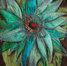 Free Motion Embroidery, Free Machine Embroidery, Embroidery Patterns, Felt Embroidery, Thread Art, Thread Painting, Wool Thread, Machine Quilting Designs, Art Quilting