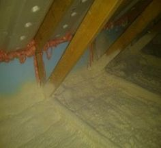 Spray Foam Insulation Applied to Existing Ceilings | Building America Solution Center