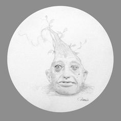"Travis Louie, Growth, 2014, graphite on paper, 8"" round at William Baczek Fine Arts www.wbfinearts.com"