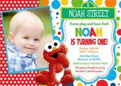 BABY SESAME STREET 1st Birthday And Shower Invitations