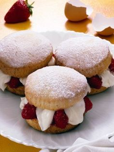 Strawberry Short Cake Pick the strawberries in the morning, then make this shortcake in the afternoon. This pretty dessert really hits the spot on a hot summer day