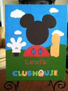 Mickey Mouse Clubhouse Inspired Canvas Creative Disney Inspiration By Donna Kay Cute Wed Have To Write Liam Though Lexi Is Having A Birthday