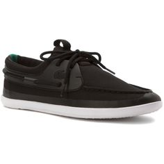 Lacoste Men's L.Andsailing 216 1 Athletic Boating Shoes (391150901) ($95) ❤ liked on Polyvore featuring men's fashion, men's shoes, men's loafers, black, shoes, mens shoes, mens black slip on shoes, mens deck shoes, mens canvas boat shoes and mens canvas deck shoes