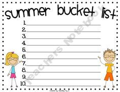 FREE End of the school year writing activity - how creative can you be? Cut and paste to sand bucket template from construction paper with a shovel, too.
