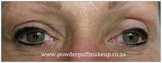 Permanent eyeliner by www.powderpuffmakeup.co.za #permanentmakeup #capetown #powderpuffmakeup #somersetwest  #tattooeyeliner Call Lisl 082 466 2429