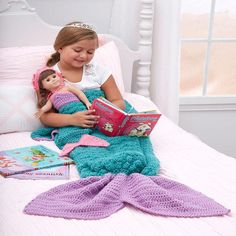 The Mermaid Fantasy Crochet Blanket is an easy crochet blanket that lets you jump on board the mermaid tail crochet blanket trend. Worked up in simple worsted weight yarn, this crochet blanket resembles a mermaid's tail and comes in three sizes.
