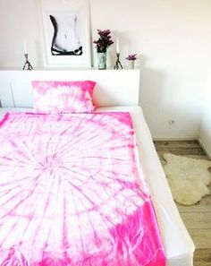 Batik Bettwäsche selber machen mit Textilfarbe