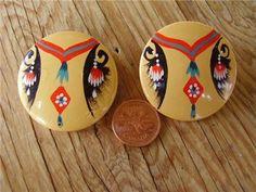 OOAK Handmade ER- Native- Insp.design on wood