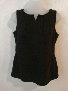 Cabi - Women's Top - Size 6 Stretch Tank Top Gray/Black Tweed Sleeveless Blouse #CAbi #TankTopBackhasHalfZipper #DressorCasual  ..... Visit all of our online locations ..... (www.stores.eBay.com/variety-on-a-budget) ..... (www.amazon.com/shops/Variety-on-a-Budget) ..... (www.etsy.com/shop/VarietyonaBudget) ..... (www.bonanza.com/booths/VarietyonaBudget ) .....(www.facebook.com/VarietyonaBudgetOnlineShopping)