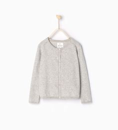 SWEATERS AND CARDIGANS-GIRL | 4-14 years-KIDS | ZARA United States  will look great with boots and an untucked shirt.  Too sweet for girly uniforms