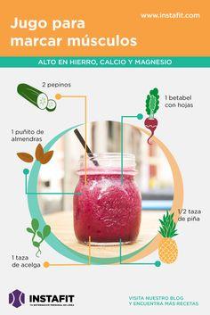 Este jugo es muy bueno para ayudarte a construir músculo, siempre acompañado de…