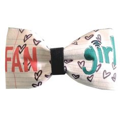 Fangirl Inspired Doodle Tumblr Hair Bow or Bow Tie Geeky Fabric Bow $11.99 USD  https://www.etsy.com/listing/186585097/fangirl-inspired-doodle-tumblr-hair-bow?ref=sr_gallery_8&ga_search_query=tessa+netting&ga_search_type=all&ga_view_type=gallery
