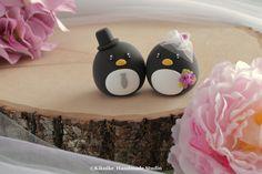 Penguins MochiEgg  wedding cake topper #cakedecor #cute