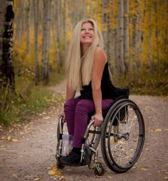 beautiful story of woman who was in a sking accident and broke her back, now no longer has function of her legs but has gone on to continue to teach people how to ski... beauty in ability