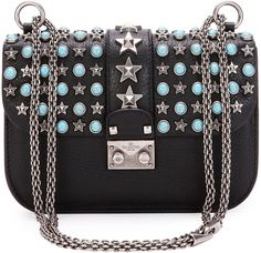 Valentino Lock small leather swarovski shoulder bag (€2.840 ...