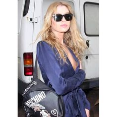 Run out of clean washing? Braless Stella Maxwell suffered a nip-slip as she arrived at Moschino's MFW show on Thursday Instagram 2017, Stella Maxwell, Cara Delevingne, Kate Moss, Moschino, Supermodels, Bomber Jacket, Vs Angels, Jackets