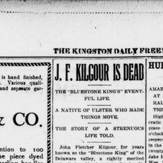 The Kingston Daily Freeman 2 November 1904 — HRVH Historical Newspapers The Quarrymen, Kingston, November, November Born