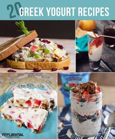 20 Creative Recipes Using Greek Yogurt #healthyrecipe #recipe