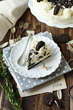 Słodkie inspiracje: Sernik oreo Oreo, Camembert Cheese, Food And Drink, Pudding, Sweets, Cookies, Cake, Impreza, Desserts