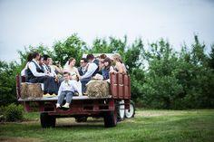 A farm wedding isn't complete without a hayride! Barn Wedding Decorations, Red Rooster, Farm Barn, Wedding Reception Venues, Large Photos, Farm Wedding, Perfect Wedding, Wedding Planner, Wedding Photos