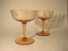 Pair of Vintage Champagne Coupes by HazelRoberts on Etsy, $14.00