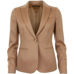 Gucci Camel Tailored Cut Jacket (6.520 RON) ❤ liked on Polyvore