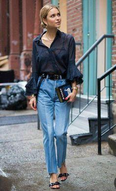 Modest Fashion, 90s Fashion, Girl Fashion, Fashion Outfits, Fashion Tips, Style Fashion, Denim Fashion, Classy Fashion, French Fashion