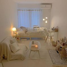 Room Design Bedroom, Small Room Bedroom, Room Ideas Bedroom, Korean Bedroom Ideas, Design Room, Master Bedroom, Study Room Decor, Decor Room, Small Room Design