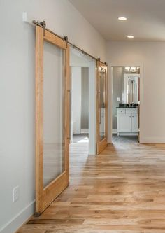 I love these beautiful rolling doors!