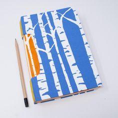 Journal / Notebook / Artist Sketchbook / Blank Hand Bound Book | Etsy Journal Notebook, Journals, Artist Sketchbook, Blank Book, Lined Page, Handmade Books, Wave Pattern, Paper Decorations, Bookbinding