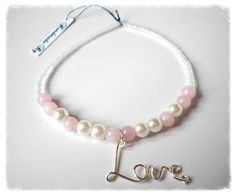 Handmade Jewelry Rg: Love bracelet with pearls