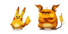 Kanto Pokemon by Piper Thibodeau - Pikachu, Raichu Pikachu Raichu, Pokemon Fan Art, Pokemon Go, Pokemon Especial, Character Concept, Character Design, Character Drawing, Concept Art, Anime