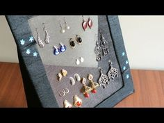 DIY Jewelry organizer - Earring holder - YouTube