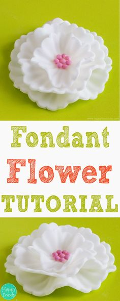 How To Make Fondant Flowers Tutorial - Easy cake decorating tutorial, fondant… Cake Decorating Company, Creative Cake Decorating, Cake Decorating Supplies, Cake Decorating Techniques, Cake Decorating Tutorials, Cookie Decorating, Fondant Cupcakes, Fondant Icing, Chocolate Fondant