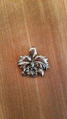 925-Vintage-Silver-Flower-Pin-Marked-SLS