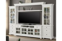 Parker House, Entertainment Wall Units, Living Room Entertainment Center, White Entertainment Centers, Chelsea, Online Furniture Stores, My Furniture, Living Room Sets, Living Spaces