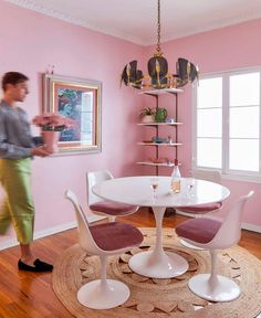 The Pink Dining Room Erik Designed BEFORE He Found His Apartment - Emily Henderson #pink #diningroom #homedesign #interiors