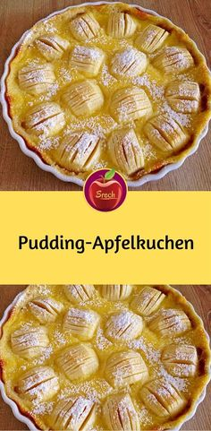 Pudding Apple Pie - Ingredients 120 g butter, room temperature 80 g sugar 1 egg yolk 150 g flour salt 1 kg apples, sour - Beach Drink Recipes, Dessert Recipes, Desserts, Blue Lemonade Recipe, Healthy Crackers, Recipe Mix, My Favorite Food, Apple Pie, Food Network Recipes