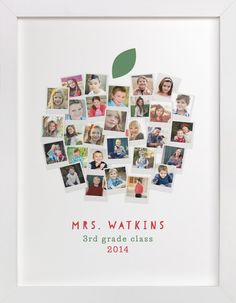 Apple for the Teacher by Laura Bolter Design at minted.com... CUTE FOR A BACK TO SCHOOL PICTURE BOARD