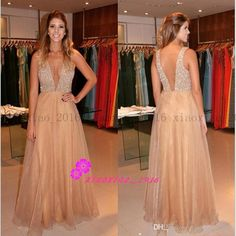 Sexy A Line Chiffon Prom Dress,Beading Prom Dress,With Slit Backless V Neck Sleeveless Long Prom Gowns For Special Occasion Prom Dresses Prom Dresses 2016, Prom Dresses For Teens, V Neck Prom Dresses, Long Prom Gowns, Cheap Prom Dresses, Sexy Dresses, Evening Dresses, Dress Prom, Formal Gowns