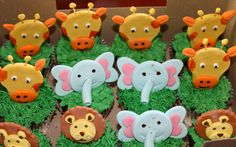 safari cupcakes part 2