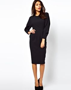 ASOS Wiggle Dress With Cocoon Sleeve  It has pockets!!!!