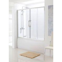 Bathscreen Silver Over Bath Sliding Door | Bathroom City