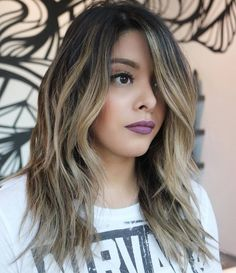 Layered Brunette Balayage Hairstyle
