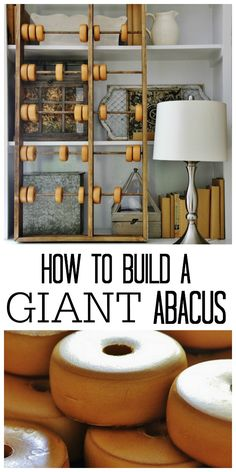 How to Build a Giant Abacus #PotteryBarnDIY, #PotteryBarnInspired, #GiantAbacus