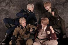 Amazing Hetalia group cosplay, Prussia, England, Germany & America =^_^= !!Nou(乃迂) Prussia Cosplay Photo - WorldCosplay