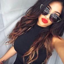 "Sunglasses & Fashion Eyewear ""My Girl"" Cat Eye Women Fashion Sunglasses Oversized Frame Metal Rim Dark Lens Luxury Sunglasses, Gold Sunglasses, Oversized Sunglasses, Polarized Sunglasses, Mirrored Sunglasses, Sunglasses Women, Beautiful Lips, Beautiful Girl Image, Fashion Mumblr"